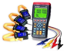 Analyzer measures current to 1,000 A and voltage to 600 V.