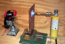 Soldering Torch reaches final temperature of 1,050 F