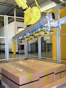 Robotic EOAT targets packaging and palletizing.