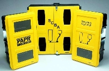 Wall Cases mount and protect breathing apparatuses.