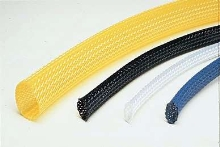 Expandable Sleeving bundles wires and protects hoses.