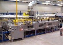 Gas-Fired IR Conveyor Oven features 16 zones of control.