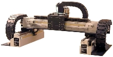 Cartesian Gantry uses brushless linear servomotors.