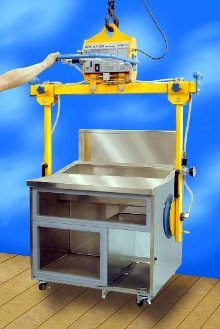 Vacuum Lifter grips large loads from sides.