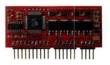 Motor Controller drives unipolar stepper motors.