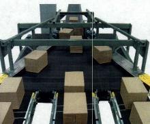 Wide Belt Conveyor features fixed belt plows.