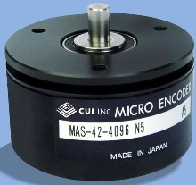 Compact Absolute Encoder delivers 12 bits of resolution.