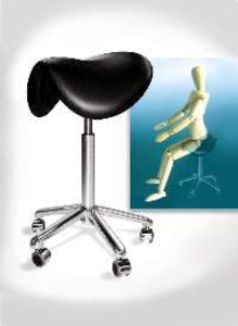 Saddle Stool helps minimize fatigue.