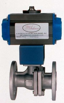 Flanged Ball Valves have electric or pneumatic actuator.