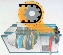 Vertical Lift Module utilizes tooth belt drive.