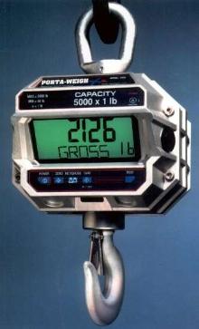 Crane Scale utilizes 12 V rechargeable SLA battery.