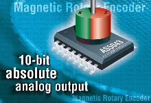 Magnetic Rotary Encoder IC offers contactless motion sensing.