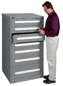 Modular Drawer Cabinets measure 36 inches wide.