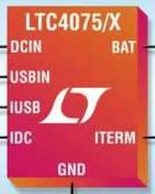 Li-Ion Battery Chargers select between USB or AC adapter.
