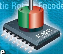 Absolute Magnetic Rotary Encoder produces analog output.
