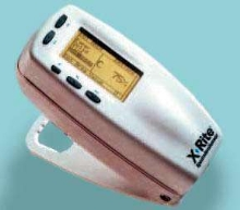 Spectrodensitometer measures density/colorimetry functions.