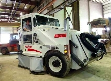 Industrial Sweeper features dry dust control system.