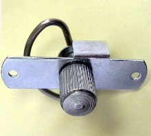 Latch secures electrical panel boxes and cabinets.