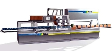 Packaging Machine combines sleevewrapper and tray packer.