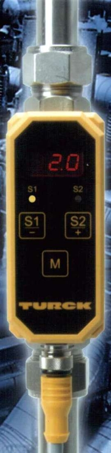 Fully Programmable Sensor monitors flow and temperature.