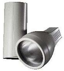 Track Luminaire uses metal halide lamp.