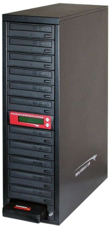 DVD Duplicator features 200 Gb of removable storage.