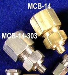 Threaded Compression Fittings fit ¼ in. OD tubing.