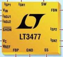 DC/DC Converter is suited for driving high-current LEDs.