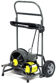 Cable Line Cleaner is offered with transport cart option.