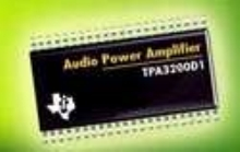 Audio Power Amplifier suits flat panel displays.