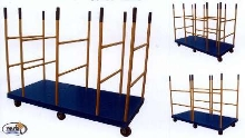 Panel/Platform Carts offer versatile divider configurations.