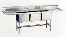 Stainless Steel Sinks provide sanitary design.