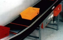 Belt Conveyor utilizes 97% efficient gear motor.