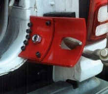 Curved Clamp pulls SUV and van hatch openings.
