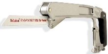 High-Tension Bi-Metal Hacksaw offers 4-in-1 functionality.