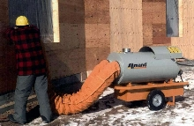 Portable Indirect Fired Heaters provide safe, dry heat.