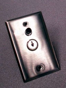 Electric Key Switch offers optional high-security cylinder.