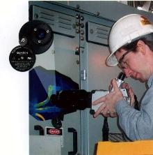 Viewport enables closed-door IR scans of electrical panels.