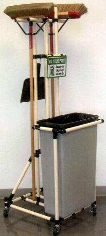 Housekeeping Cart helps employees maintain clean work zones.