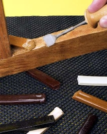 Furniture Repair Kit eliminates wood fillers and staining.