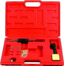 Portable Heat Tool Kit provides soldering and desoldering.