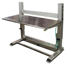 Stainless Steel Workbench has adjustable height design.