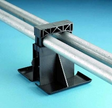 Rooftop Pipe Support features lightweight, sled design.