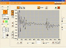 Software gives streaming data on machine dynamics.