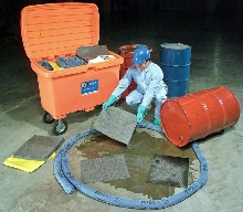 Mobile Spill Kit is mounted on 5 in. rubber wheels.