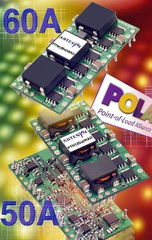 POL Converters are suited for densely populated boards.
