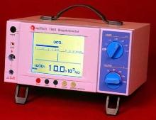 Megohmmeter displays analog and digital results.