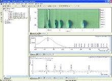 Software acquires chromatography data.