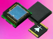 Miniature SMT PIN Photodiodes have 100 ns response time.