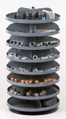 Rotary Shelf Storage Systems use lazy-Susan design.